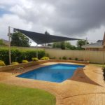 pool custom made shade sail