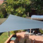 shade sail in back garden area